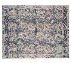 Bosworth Printed Rug - Gray | Pottery Barn