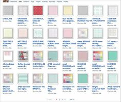 How to Download papers & overlays from Flickr -- good tutorial from an person who provides an amazing amount of free resources