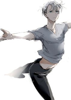 Yuri on ice - Victor Nikiforov Manga Boy, Anime Manga, Anime Guys, Anime Art, Love On Ice, ユーリ!!! On Ice, Yuri Plisetsky, Yuri On Ice Victor, Victor Nikiforov