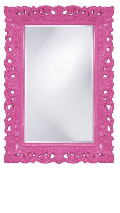 Wall Mirrors, Fuchsia Pink Baroque Mirror, so beautiful, one of over 3,000 limited production interior design inspirations inc, furniture, lighting, mirrors, tabletop accents and gift ideas to enjoy repin and share at InStyle Decor Beverly Hills Hollywood Luxury Home Decor enjoy & happy pinning Baroque Mirror, Red Mirror, Oval Mirror, Pantone, Texture Metal, Chandeliers, Art Nouveau, Vase Design, Pink Design