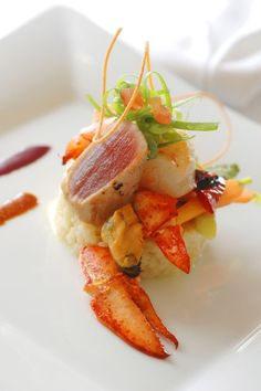 awesome The Top Fine Dining Restaurants in Austin and the Texas Hill Country. Seafood Recipes, Gourmet Recipes, Cooking Recipes, Healthy Recipes, Chefs, Sashimi, Molecular Gastronomy, Food Presentation, Creative Food