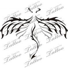 Marketplace Tattoo Tribal Demon Wings #6541   CreateMyTattoo.com