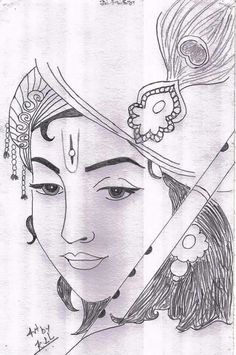 Art Drawings Sketches Simple, Doodle Art Drawing, Cute Drawings, Earth Sketch, Krishna Tattoo, Pencil Drawing Inspiration, Tattoo Coloring Book, Dancing Drawings, Indian Art Paintings