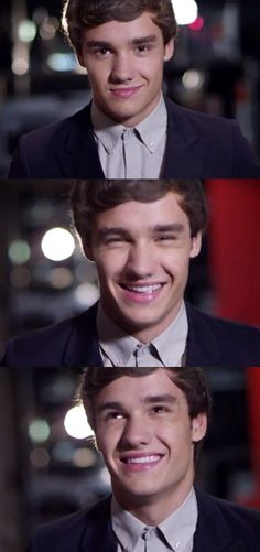 sweet Liam... I expected the second pic for he's smile to sparkle like the cartoons... his smile kills me .