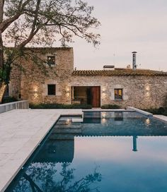Stone converted farmhouse with outdoor pool