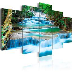 Obraz - Błękitny wodospad w Kanchanaburi, Tajlandia
