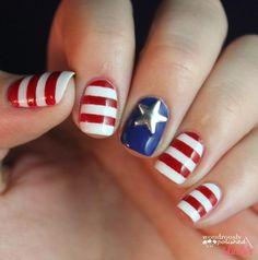 DIY Fourth of July Nails 4-ways DIY Nails Art