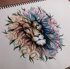 floral lion - this is stunning