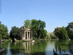 Aesculapius temple in the Park of the Villa Borghese