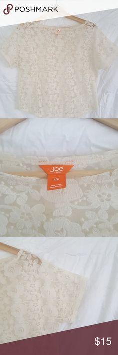 Joe Fresh lace shirt Fun to wear a cami underneath.  Wear to work or to play Joe Fresh Tops Crop Tops