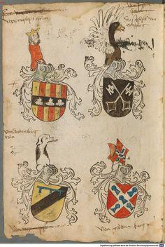 Tirol, Anton: Wappenbuch Süddeutschland, Ende 15. Jh. - 1540 Cod.icon. 310  Folio 127v