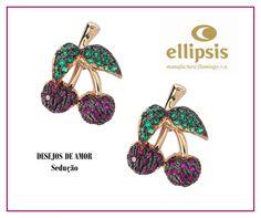 Brincos Coleção DESEJOS DE AMOR - SEDUÇÃO da ELLIPSIS JEWELS!  Ellipsis Lovers, Apaixonem-se! ♥