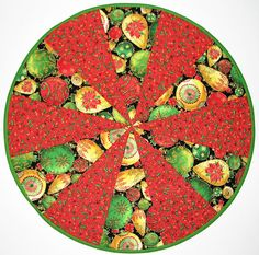 Christmas Quilted Table Topper, Reversible Round Holiday Table Mat, Ornaments and Poinsettia Christmas Table Quilt, 20 in., Quiltsy Handmade by VillageQuilts on Etsy Etsy Christmas, Handmade Christmas, Christmas Tree Ornaments, Christmas Fun, Christmas Breakfast, Christmas Table Mats, Holiday Tables, Quilted Table Toppers, Quilted Table Runners