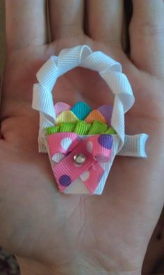 Easter basket bow by @Leah Jinright Murphy