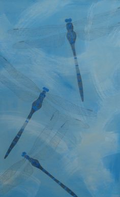 """""""Dragonflies"""", acrilyc painting, 2010."""