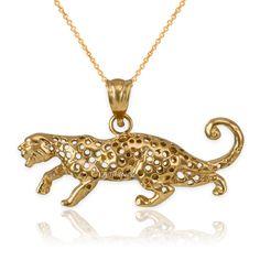 LA BLINGZ 14K Yellow Gold Lucky Horseshoe CZ Pendant Necklace