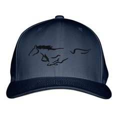 Mustang Horse Embroidered Baseball Cap