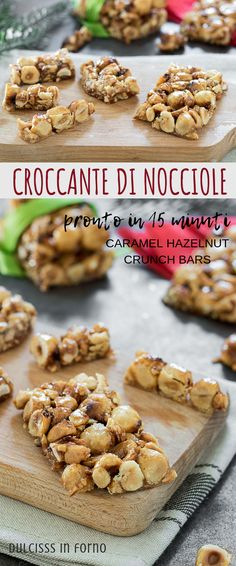 Croccante di nocciole, una ricetta semplice da preparare. Ci vorranno solo 15 minuti per gustarvelo! Perfetto anche da regalare a Natale ! Ricetta passo passo Hazelnut brittle easy recipe step by step Mini Desserts, Delicious Desserts, Italian Cake, Good Food, Yummy Food, Easy Cooking, Finger Foods, Sweet Recipes, Food To Make