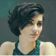 Tuba Büyüküstün. She's pretty with short or long hair.