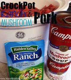 CrockPot Ranch Pork - EH note: This was easy and delicious, will totally make again