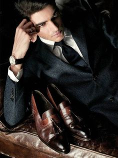 ♂ Masculine and elegance man's fashion apparel suit and shoes