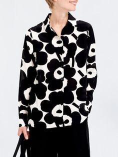 Gabro Pieni Unikko shirt Off White/Black - Marimekko Scandinavian Fashion, Shirt Blouses, Shirts, Marimekko, Crochet Fashion, Summer Sale, Capsule Wardrobe, Off White, Fashion Brands