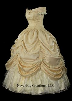Adult Beauty and the Beast New Parks Custom by NeverbugCreations, $1300.00 #Belle #BeautyAndTheBeast #DisneyPrincess #Disney #Cosplay