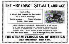 1900 Reading Steam Carriage, The Steam Vehicle Co. of America, Reading, PA