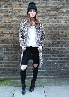 Rosie Fortescue looking chic is out cream wrap blouse #riverisland