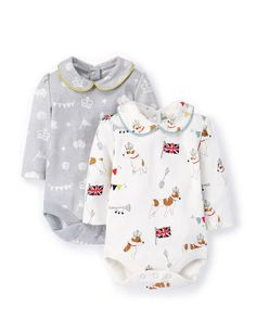 Twin Pack Collared Body Set 71421 Newborn at Boden