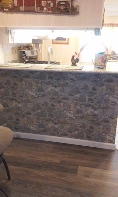 Kitchen makeover-stone pattern from Weathered Finishes #yorkwallstore