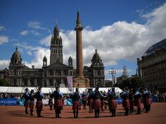 Peel Regional Police Pipe Band performing at George Square, Glasgow, Scotland, 2010