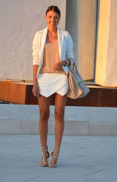Idea for how to wear the white Zara skort. (which i need)
