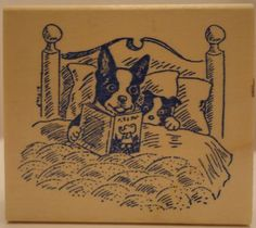 Boston Terrier rubber stamp...if I had one of these, I'd stamp all of my stationary
