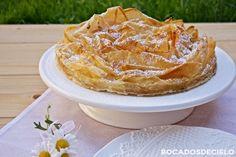 Tarta ruffle milk pie Victoria Sponge Cake, Sweets Cake, Food Decoration, Wedding Desserts, Fun Cooking, Mediterranean Recipes, Sin Gluten, Cakes And More, Carrot Cake
