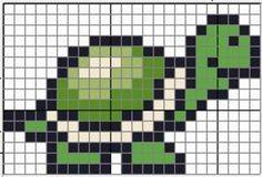 Ravelry: Turtle Chart pattern by Kody May Kline Perler Bead Templates, Perler Patterns, Loom Patterns, Beading Patterns, Embroidery Patterns, Cross Stitch Sea, Cross Stitch Animals, Crochet Cross, Filet Crochet
