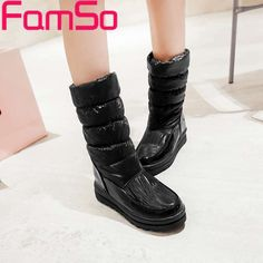 Free shiping 2017 new Sexy Women Boots black Autumn half motorcycle boots platforms Shoes Winter Down Snow Boots ZWB3455