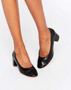 Faith - Cassidy - Chaussures en cuir à talons mi-hauts - Noir