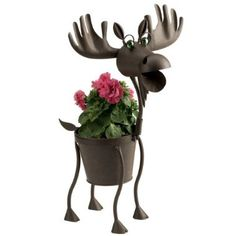 I would LOVE this moose planter for my garden!  SO ADORABLE!  <3