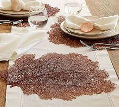 Fan coral as place mats