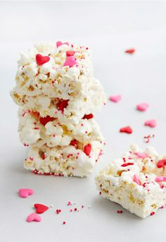 Valentine's Day Popcorn Bars