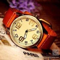 Brown Leather Watch (WAT0040-LIHGTBROWN)