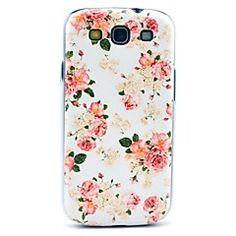 Mooie Rose Flower Pattern Hard Case Cover voor Samsung Galaxy S3 I9300
