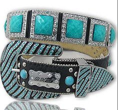 Bling Belt Blue stones i need! Cowgirl Belts, Western Belts, Western Wear, Native American Jewellery, Country Style Outfits, Bling Belts, Fashion Accessories, Fashion Jewelry, Crystal Belt