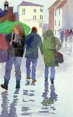 How to Paint a Watercolour Picture That Tells a Story #watercolorarts