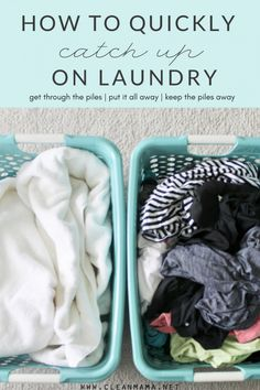 Laundry in its incomplete state can be overwhelming and can definitely give your home or a room a cluttered look and feel even if it's just in a pile on a bedroom floor. What's the best way to get a handle on your laundry quickly? Take part of a day to wash and fold everything... (read more...)