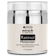 Radha Beauty Retinol Moisturizer Cream for Face and Eye Area 17 Oz  With Retinol Hyaluronic Acid vitamin e and Green Tea Night and Day Moisturizing Cream >>> More info could be found at the image url.