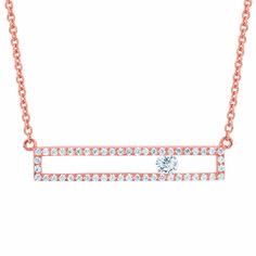 Diamond Bar Necklace by Ostbye