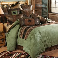 Pine Lodge Bear Bed Set - King