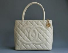 Chanel Classic Caviar Medallion Coin Tote Bag